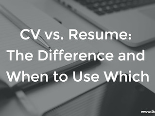 What's The Difference Between A Curriculum Vitae & Resume