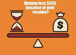 Are You Making Less Money Because Of Your Resume?
