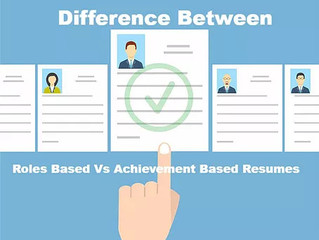 Difference Between A Roles Based Vs Achievement Based Resume?