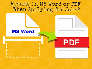 Should You Upload Your Resume in MS Word or PDF To Job Applications?