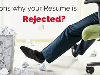 5 Most Common Reasons Resumes Get Rejected By Employers