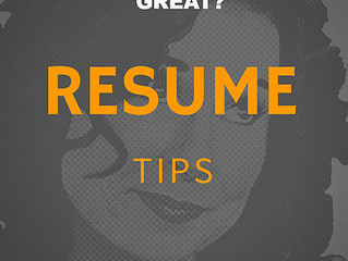 What Makes A Great Resume, Great?