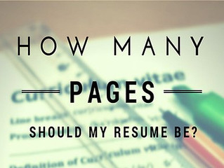 How Many Pages Should My Resume Be?