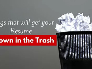 Top 5 Reasons Employers Throw Resumes In The Trash