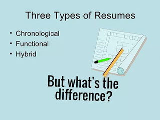 What's The Biggest Difference Between A Chronological Resume and Hybrid Resume?