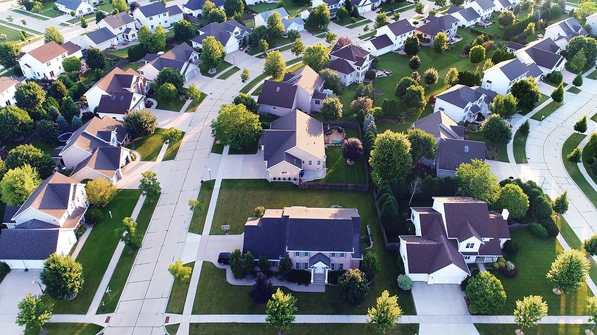 Aerial View of a Suburb