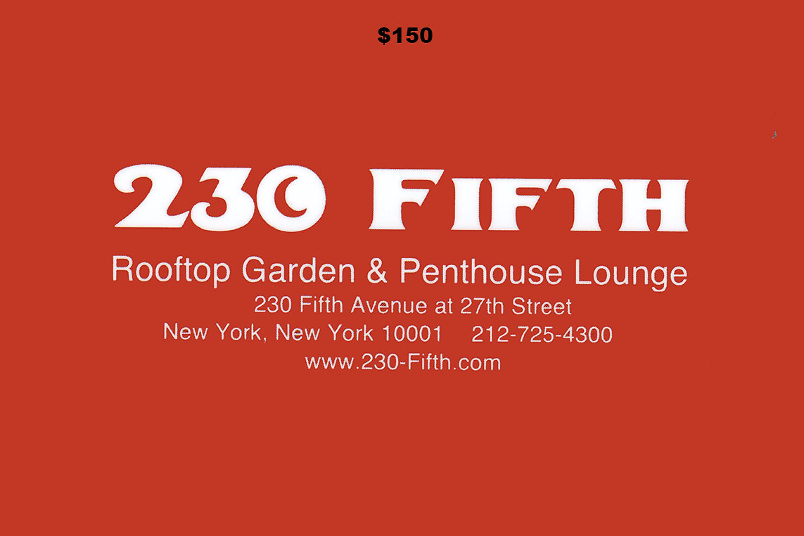 Outdoor rooftop bar club restaurant nyc new york 230 fifth send your friends or family and the ones you want to best impress the 230 fifth gift certificate product details gift certificates are available to be xflitez Gallery