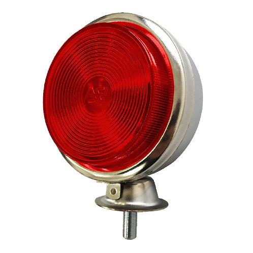 Lanterna Foguinho Cromada Metal Vermelha