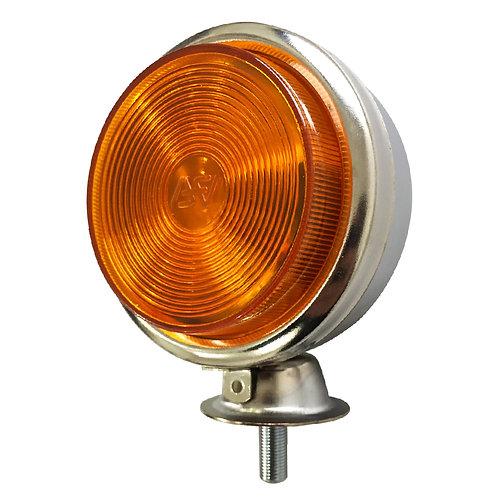 Lanterna Foguinho Cromada Metal Amarela