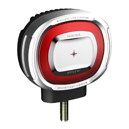 Lanterna Foguinho LED Vermelho Cromado