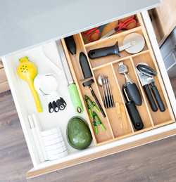 organized cooking utensils