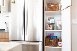 organized small kitchen pantry