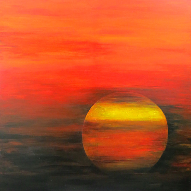 Sonnenuntergang bei Kaminke