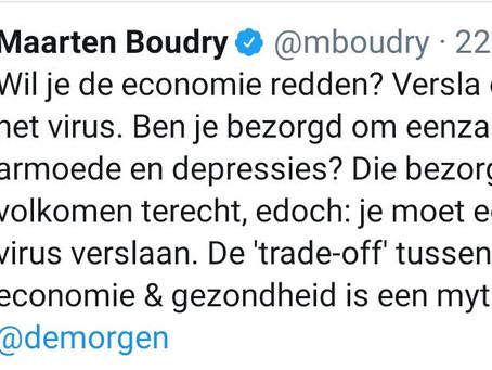 Sterke beïnvloeding van Maarten Boudry in 240 tekens