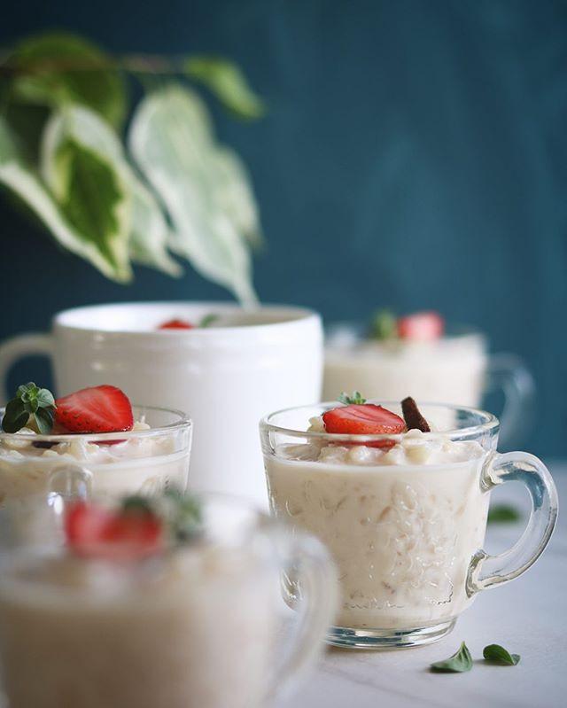 Arroz con leche. Preparado con leche evaporada y endulzado con raspadura. Una verdadera delicia ;)