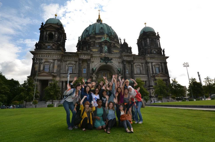 The first time I traveled internationally, with the Berlin Global Citizens Scholars in 2012. (Bottom left.)