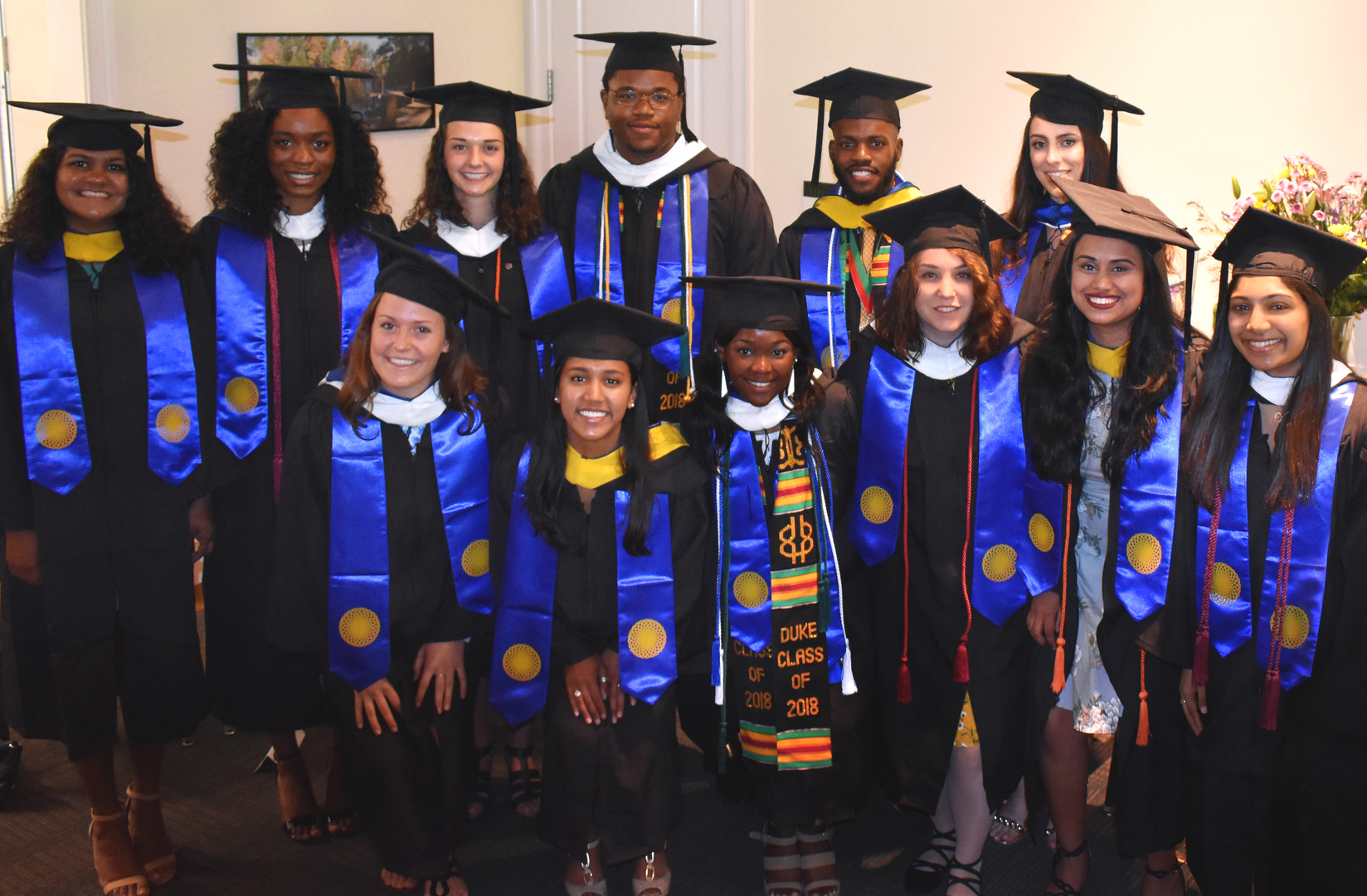 All 12 of the students in the Duke Class of '18 who graduated with majors of their own design. (Front row, 3rd from the right.)
