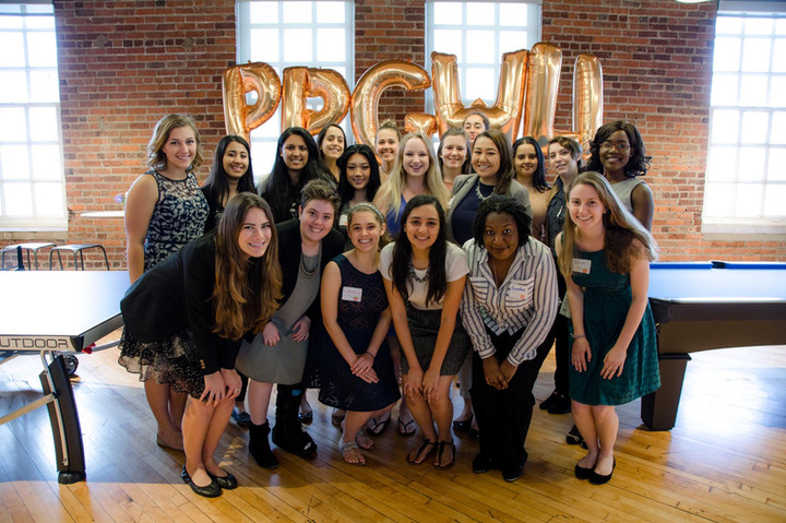 With my cohort of women in the Penny Pilgram George Women's Leadership Initative. (Back row, second from right.)
