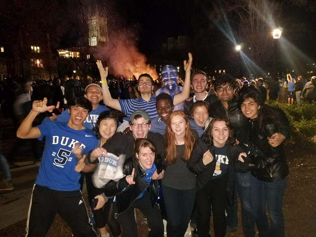 A very important Duke win over Chapel Hill which obviously belongs here. (Front, bottom right.)