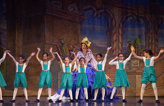 Mother Ginger and the BonBons performing in the Nutcracker
