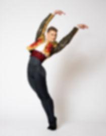 Robert Burns Lowman, dance portrait in Carmen costume