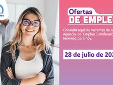 Ofertas de empleo - 28 de julio de 2021
