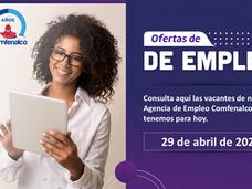 Ofertas de empleo - 29 de abril de 2021