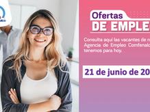 Ofertas de empleo - 21 de junio de 2021