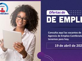 Vacantes de empleo  - 19 de abril de 2021