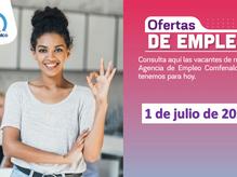 Ofertas de empleo - 1 de junio de 2021