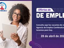 Vacantes de empleo  - 28 de abril de 2021