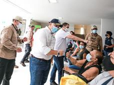 Presidente Iván Duque visitó punto de vacunación Cedesarrollo Comfenalco