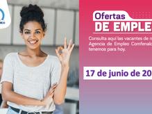 Ofertas de empleo - 17 de junio de 2021