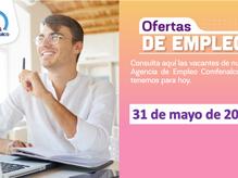 Ofertas de empleo - 31 de mayo de 2021