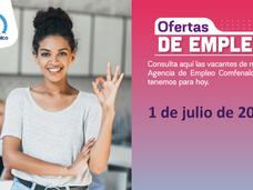 Ofertas de empleo - 1 de julio de 2021