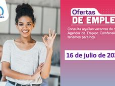 Ofertas de empleo - 16 de julio de 2021