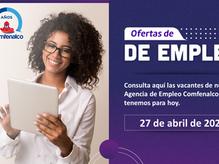 Ofertas de empleo - 27 de abril de 2021