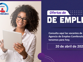 Vacantes de empleo  - 20 de abril de 2021