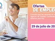 Ofertas de empleo - 29 de julio de 2021