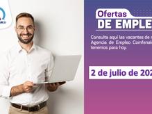 Ofertas de empleo - 2 de julio de 2021