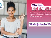 Ofertas de empleo - 26 de julio de 2021