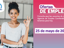 Ofertas de empleo - 25 de mayo de 2021