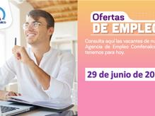 Ofertas de empleo - 29 de junio de 2021