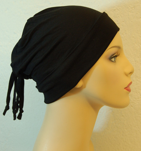 Bonnet noir en coton