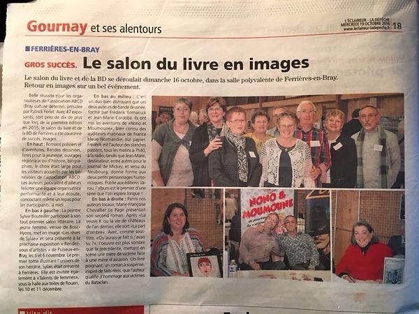 Marie-Françoise Chevallier Le Page au Salon du livr et de la BD de Ferrières-en-Bray