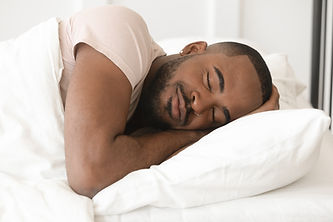 Serene calm handsome young black man sle