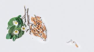 The last one cigarette conceptual photo.