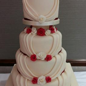 Roses & Pleats wedding cake.jpg
