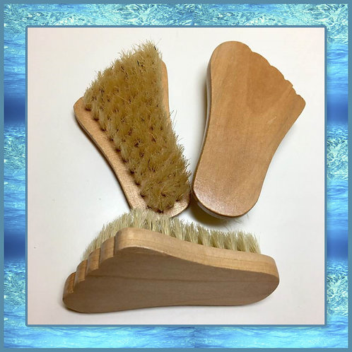 Wooden Foot Shaped Scrub Brush