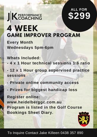 4 Week Golf Training Program